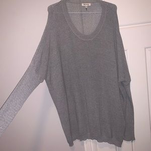 Oversized gray sweater. Only worn once